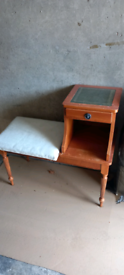 Vintage Telephone Table Stool