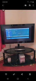 """Samsung 42"""" LCD TV and mounted stand"""
