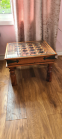 Solid oak side/coffee table