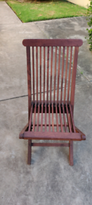 Wooden Folding Chair with Cushions