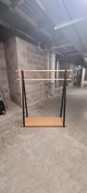 Metal/Wooden Clothes Rail x5