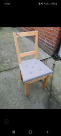 6 x Ikea wooden chairs