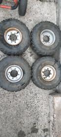 4 e-ton rims and tyres good shape