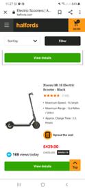 Xiaomi Mi 1s electric scooters