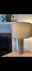 John Lewis Stone base lamp 8 months old, perfect condition.
