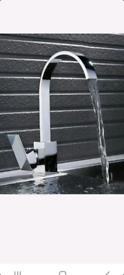 Waterfall kitchen mixer tap