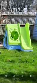 Keter Funtivity Garden Plastic Playhouse Wendy House Slide Den