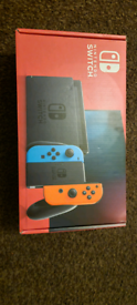 Nintendo switch boxed up