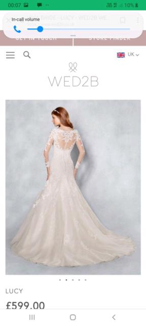 Wed2b Lucy Wedding Dress Size 12 In Derby Derbyshire Gumtree