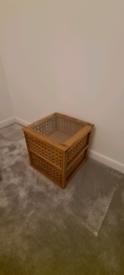 Solid walnut table/drawer unit
