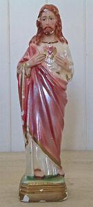 Antiquité  Collection Art religieux. Statue Sacré-Coeur Italie L