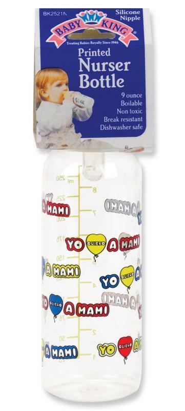 Baby King 9 oz. Spanish Mami Printed Nurser Baby Bottle