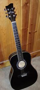 Jay Jr JJ43 3/4 size acoustic guitar - Black