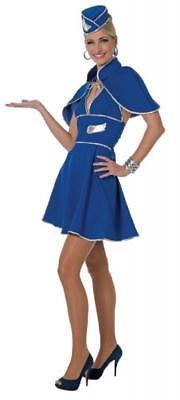 Flugbegleiterin Stewardess Pilot Pilotin Flugkapitän Uniform Kostüm Kleid Rock