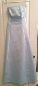 GORGEOUS SKY BLUE SATIN DRESS