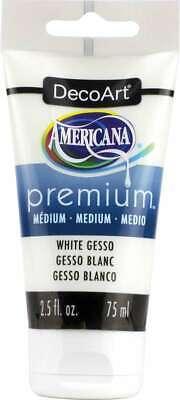 Americana Premium Acrylic Medium Paint Tube 2.5oz White Gesso -
