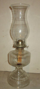 Antique Glass pedestal kerosene lamp should be working condition
