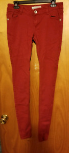 EXTRA LONG Red Skinny Jeans