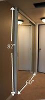 Mirror sliding closet doors - beveled edges