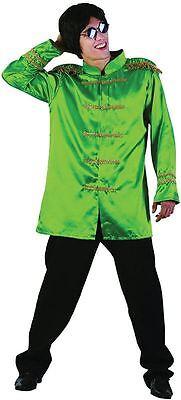 SGT PEPPER-JACKE, GRÜN, ERWACHSENE KOSTÜME, 60ER JAHRE KÄFER FAB 4 (Sgt Peppers Kostüm)