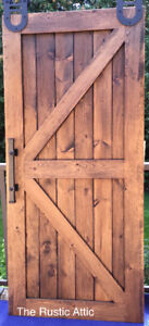 Handcrafted Custom Rustic Sliding Barn Door Plus Hardware