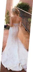 Designer Wedding dress size 8