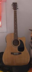 Beaver Creek Acoustic Guitar Steel String With Case Etc.