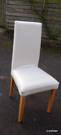 Six Leather Dining Room Chairs