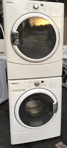 WHIRLPOOL DUET SPORTS FRONT LOAD WASHER DRYER STACKABLE