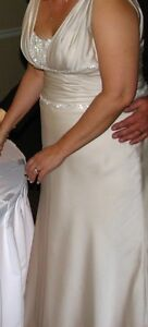 Grecian Style Wedding Dress with head band
