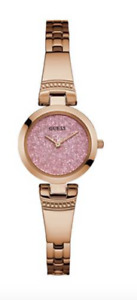 GUESS Women's Rose Gold Pink Glitz Petite Watch (Brand New)