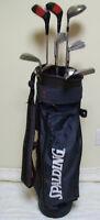 9 bâtons de golf gaucher et sac