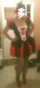 Queen of hearts costume large