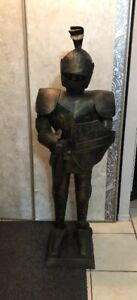 ANTIQUE METAL KNIGHT (54 INCHES TALL)