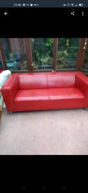 Sofa leather look