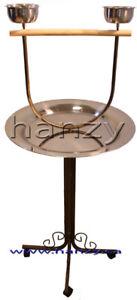 Perchoir bronze pour perroquets, cockatiel etc.