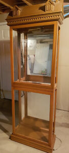 Curio Cabinet with Doll House Top