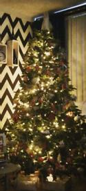 Full Bushy 7ft Christmas tree