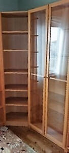 Ikea Billy tall corner unit and TWO matching bookcases.