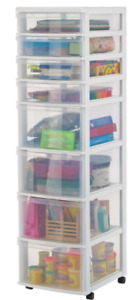 Gracious Living 8-Drawer White Storage Tower from Canadian Tire