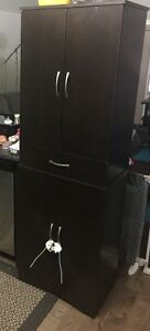 4-Door Storage Cabinet with Drawer
