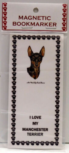 """MANCHESTER TERRIER DOG MAGNETIC BOOKMARK,""""I LOVE MY MANCHESTER TERRIER"""""""