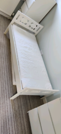 Children's bed (Inc mattress if wanted) and new unopened mattress prot