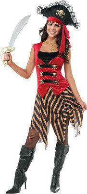Women's Gold Coast Pirate Costume Sassy Swashbuckler Halloween Size Standard