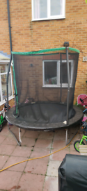 Trampoline with net 10 foot I think