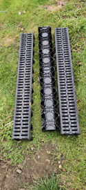 3 x 1m ACO HexDrain Channel with Black Plastic Grating