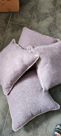 Next x4 Purple Cushions in new condition approx 18x18 inches