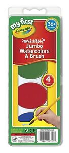 NEW Crayola 4 Jumbo Watercolours Water Paints 36+ months