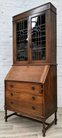 Oak Writing Bureau With Bookcase (DELIVERY AVAILABLE)