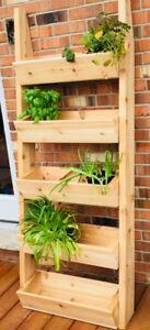 "Cedar Wood Flower/Herb 68"" Ladder"